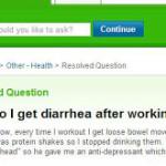 Workout / Exercise Menyebabkan Diarrhea?