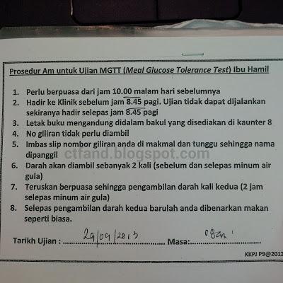 Pemeriksaan Mengandung Minggu ke 35 dan MGTT