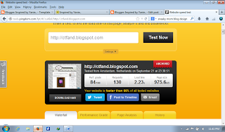Uji Kelajuan Loading Blog atau Website Anda