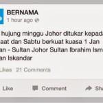 Perubahan Cuti Hujung Minggu Negeri Johor