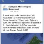 Gempa Kecil Di Ranau, Sabah