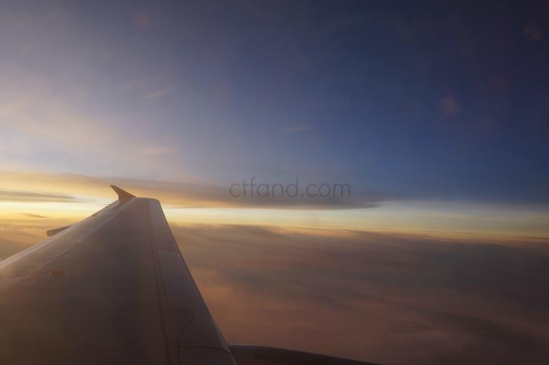 Nak capture sunset dari dalam flight tapi tak dapat..