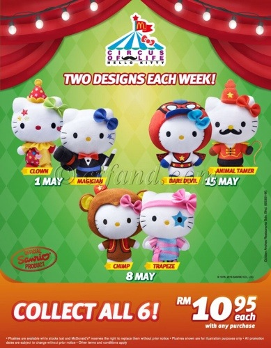 McDonald's Hello Kitty-The Circus Is In Town!