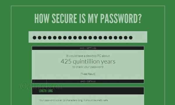 Semak Kekuatan Password